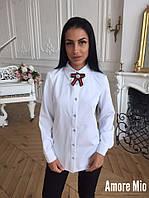 Прямая женская рубашка с бантиком 73BL189, фото 1
