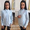 Женская прямая рубашка с декором в расцветках 73BL190