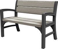 Двомісна лавка MONTERO DOUBLE SEAT BENCH графіт-свіло-сірий, (Keter), фото 1