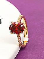Кольцо женское позолота ХР 1194. Размер 17,18