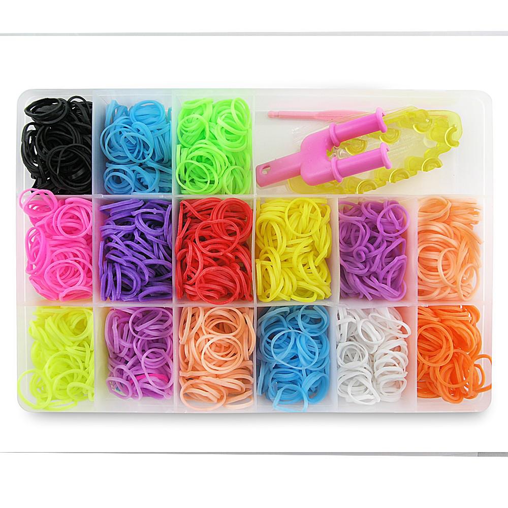 Резиночки для плетения Органайзер 1000 шт Средний