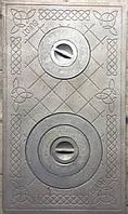 Плита чугунная печная 410х710 с кольцами