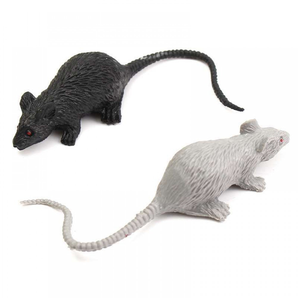 Резиновая Крыса 23х10 см серая