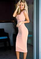 Облегающее платье-футляр 17100 Gepur M пудрово-розовый