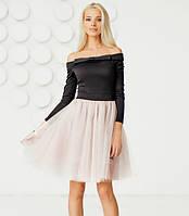 206586f4ec8 Коктейльное платье ретро 10760 Gepur M черный розовый