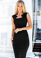 Облегающее платье-футляр 17300 Gepur L черный, фото 1