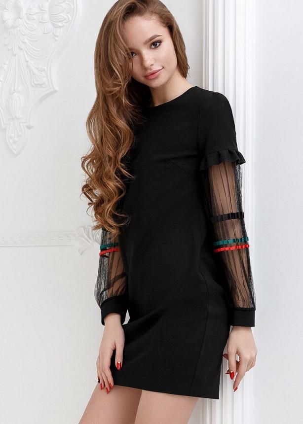 Оригинальное праздничное платье 24647 Gepur M черный