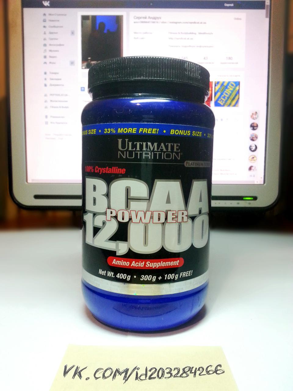 Ultimate Nutrition BCAA Powder 12,000 Crystalline 400г 67 порций