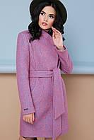 Теплое женское демисезонное короткое пальто, воротник-стойка П-308 цвет 1213