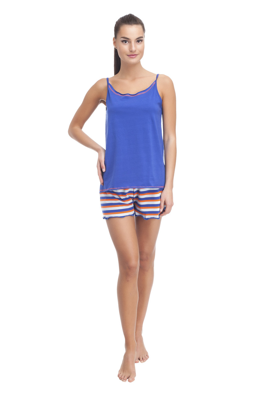 Пижама, майка с шортами 2070 Promin L Синий