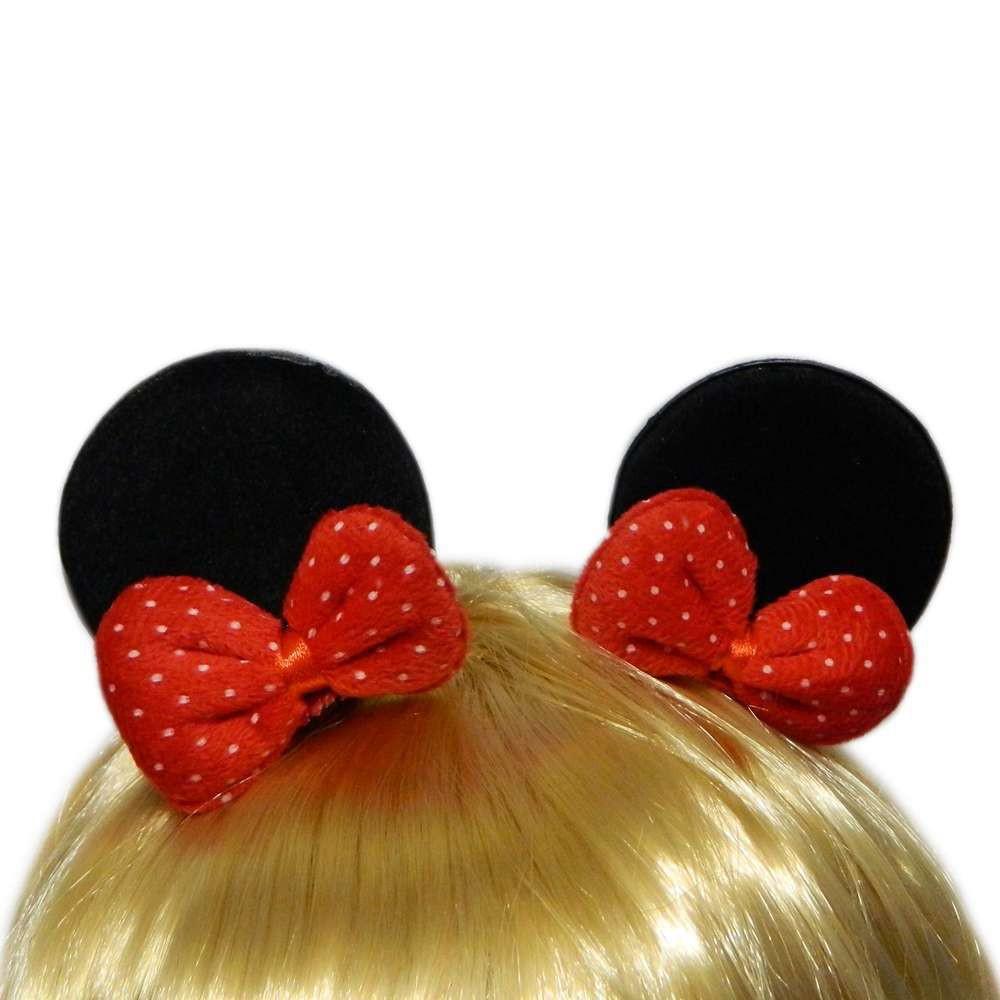 Уши Микки Мауса с бантом черные