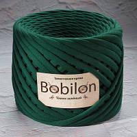Трикотажная пряжа Бобилон MEDIUM 7-9 мм темно-зеленый № 6048