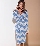 Мягкий трикотажный халат 24962 Gepur S Сине-серый, фото 1