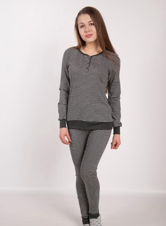 Стильная женская пижама 2616 Goldi S Серый