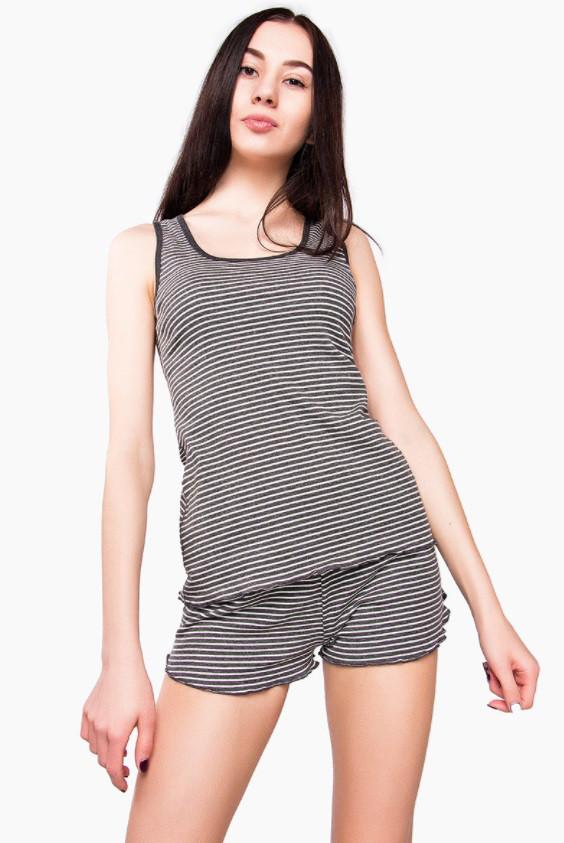Стильная женская пижама 2618 Goldi XS Серый