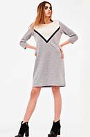 Платье 30778 Goldi XS Серо-белый с черным