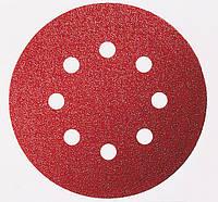 Шлифовальный круг на липучке, Bosch K40 125 мм, 8 отв. Best for Wood