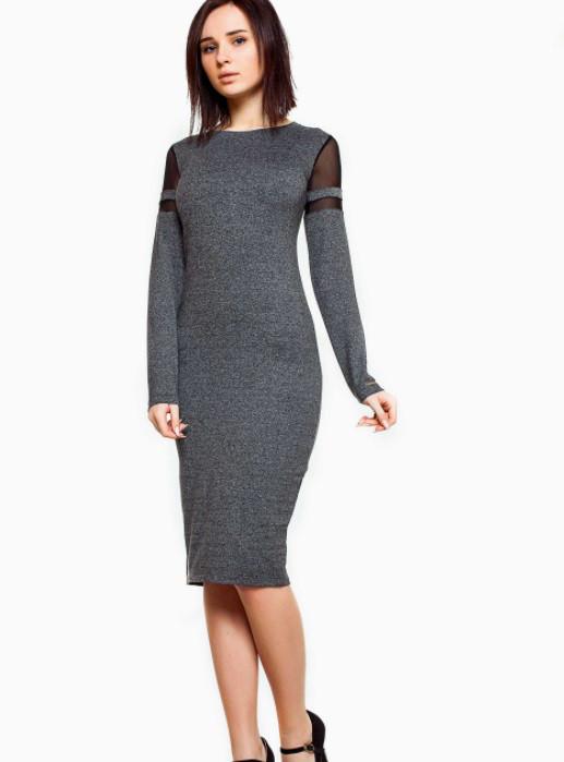 Платье 30974 Goldi S Темно-серый
