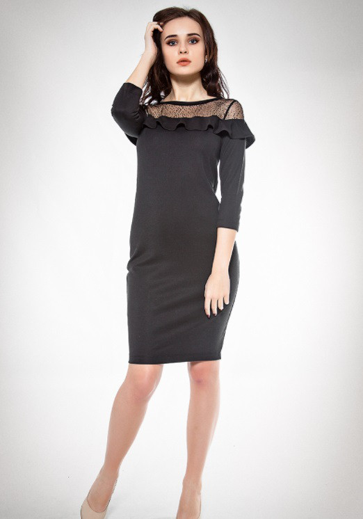 Платье 30976 Goldi S Черный