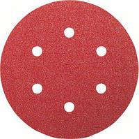 Шлифовальный круг на липучке, Bosch K100 150 мм, 6 отв. Best for Wood