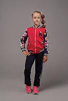 Малиновый спортивный костюм на девочку