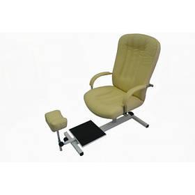 Кресло педикюрное Портос Зестав кожзаменитель Boom Зеленый (Frizel TM)