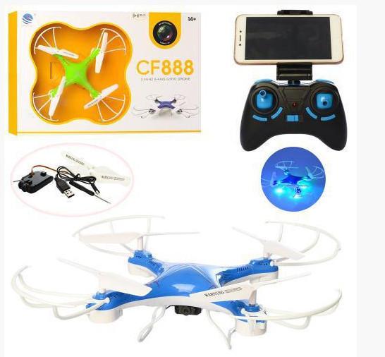 Радіокерований квадрокоптер Drone з камерою і WIFI CF-888-3