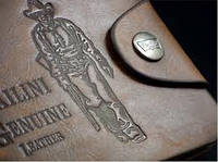 "Бумажник""BAILINI""натур.кожа  ковбой(застежка посередине)"