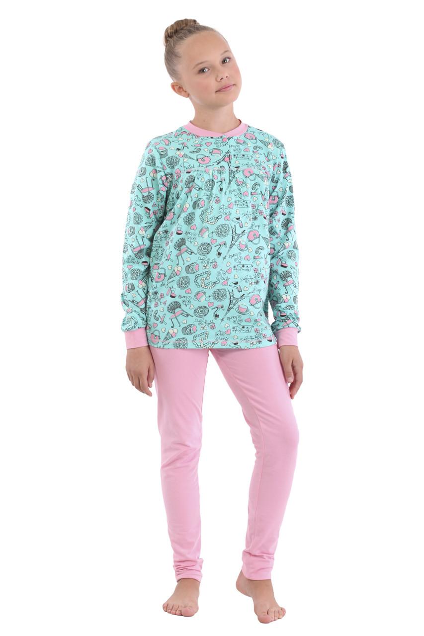Пижама, кофта с брюками 13015-01 Promin 30 Бирюзовый