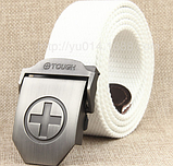 Тактический пояс «Tough Plus» светло-серый 110-130 см, фото 4