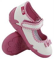 Туфельки, тапки текстильные для девочки. Размер 22, фото 1