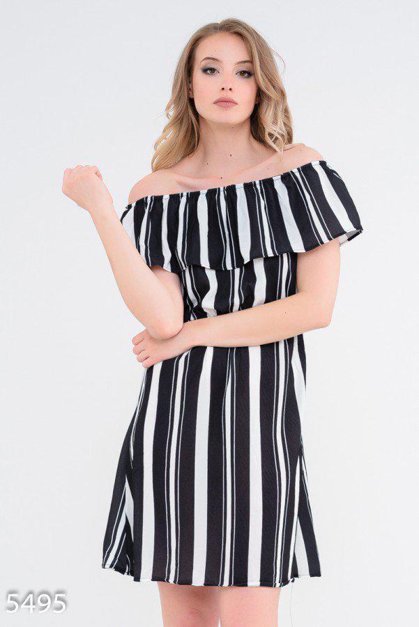 Приталенное платье с открытыми плечами 5495 Issa Plus S Черный