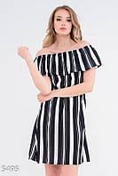 Приталенное платье с открытыми плечами 5495 Issa Plus S Черный, фото 1