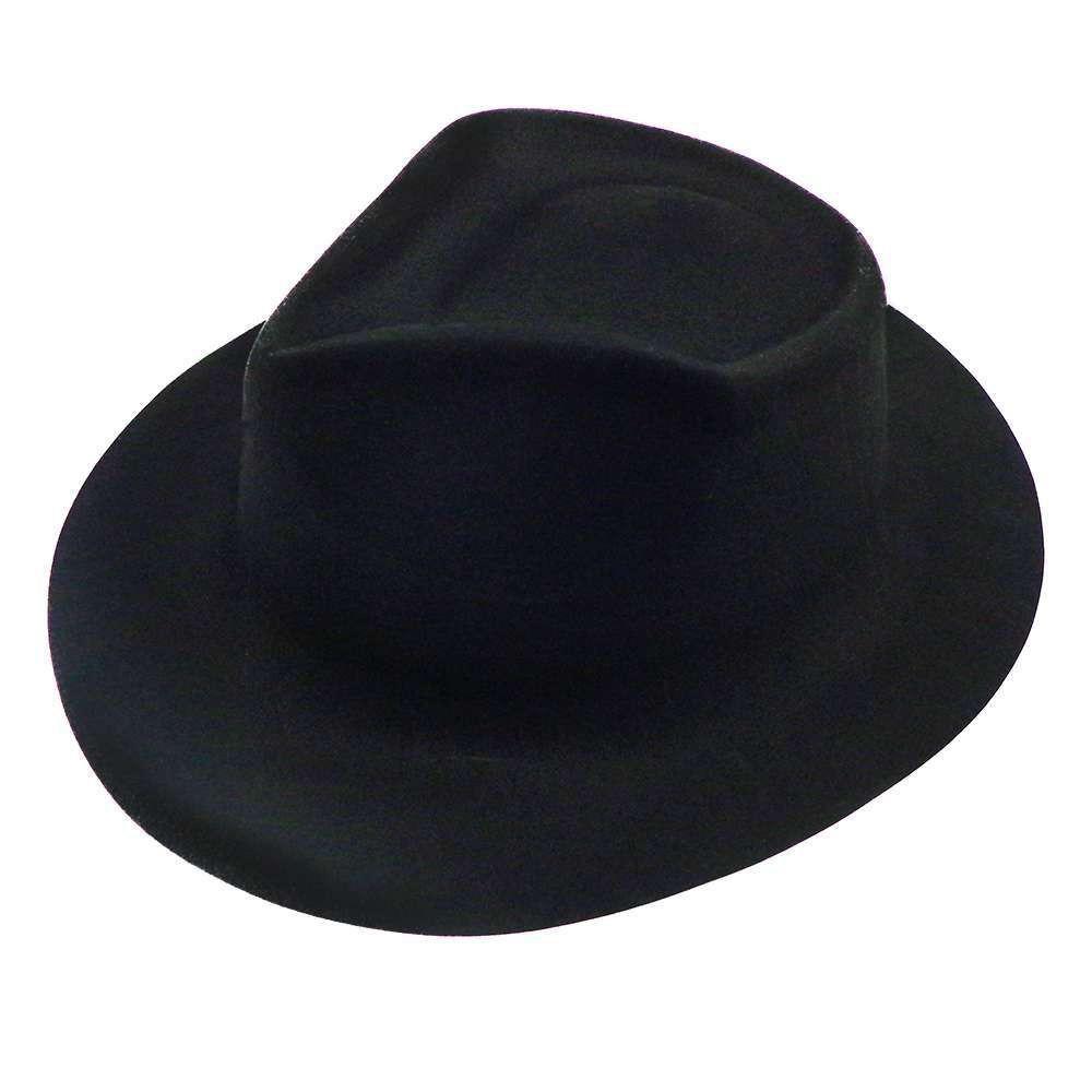 Шляпа Мужская флок черная