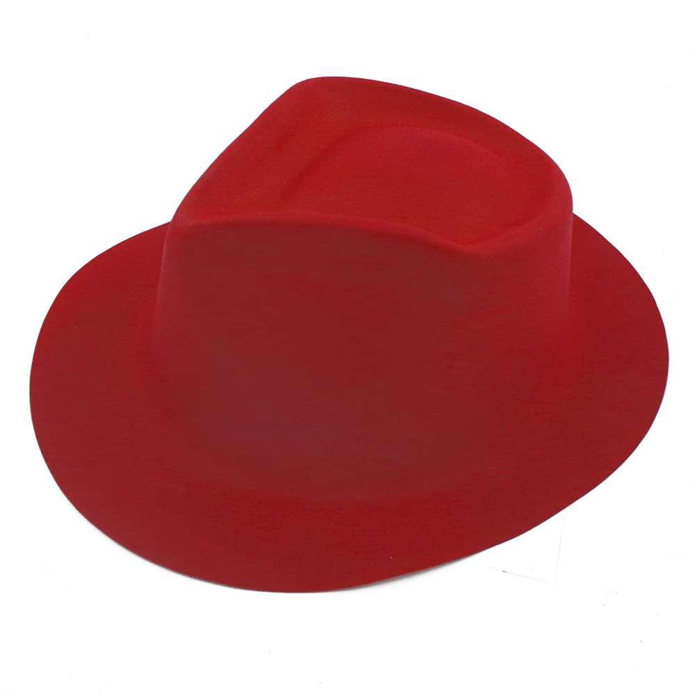 Шляпа Мужская флок красная