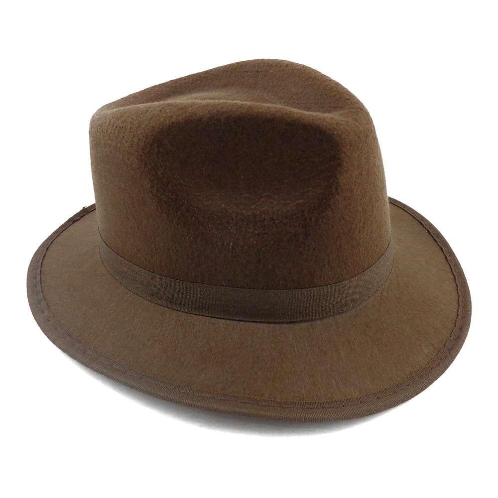 Шляпа Мужская фетровая коричневая