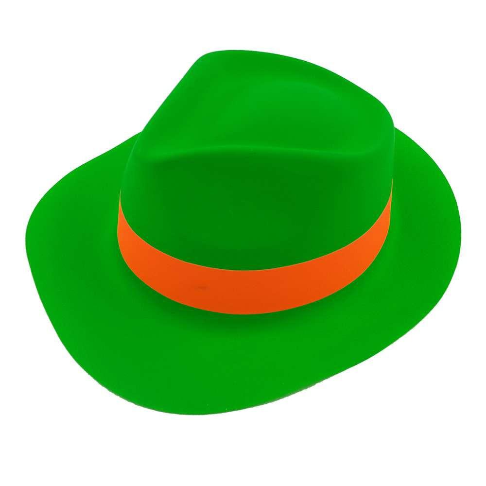 Шляпа Мужская пластик с лентой зеленая