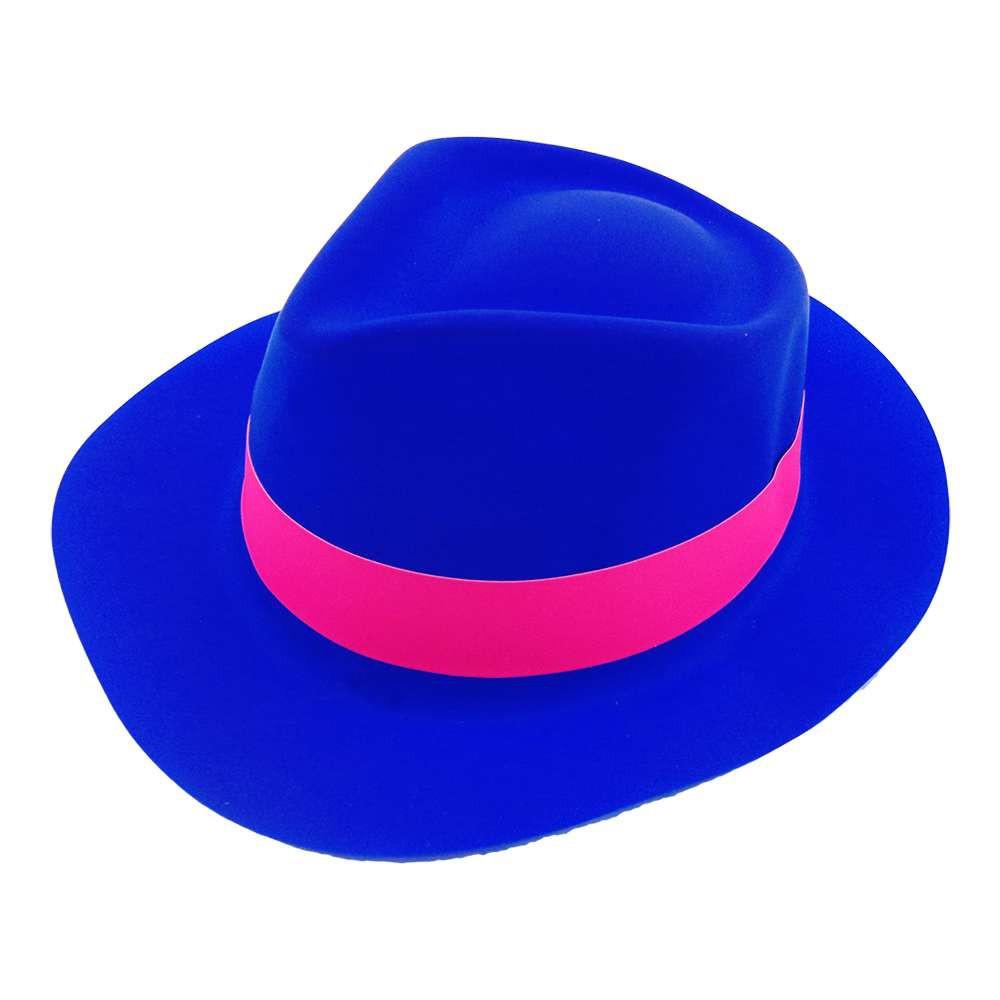 Шляпа Мужская пластик с лентой синяя