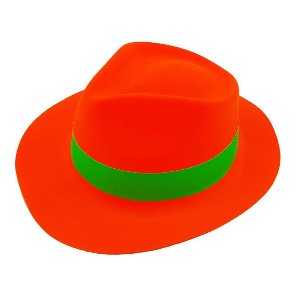 Шляпа Мужская пластик с лентой оранжевая