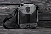 Прочная сумка через плече Puma, сумка на плече пума, сумка мужская реплика, фото 1