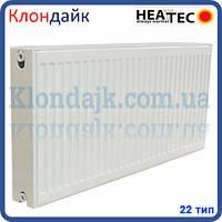 Стальной панельный радиатор HEATTEC 22 тип 500*500 боковое подключение