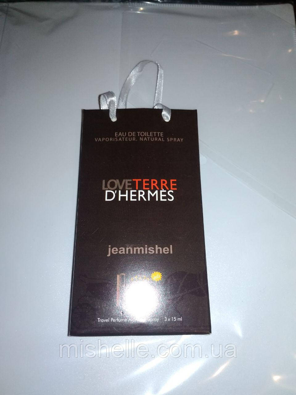 Мини духи в подарочной упаковке jeanmishel Love Terre D`Hermes 45мл
