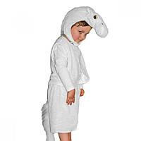 Маскарадный костюм меховой Лошадь белая размер L