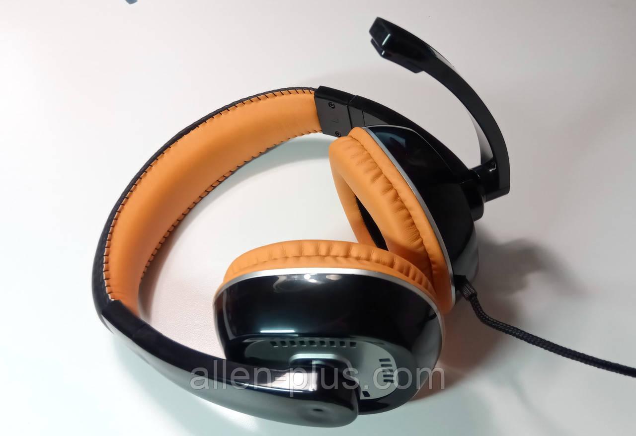 Наушники с микрофоном Gorsun GS-M995 Powerfull Bass (Orange) (рег. громкости) ОРИГИНАЛ !