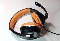 Наушники с микрофоном Gorsun GS-M995 Powerfull Bass (Orange) (рег. громкости) ОРИГИНАЛ !, фото 1