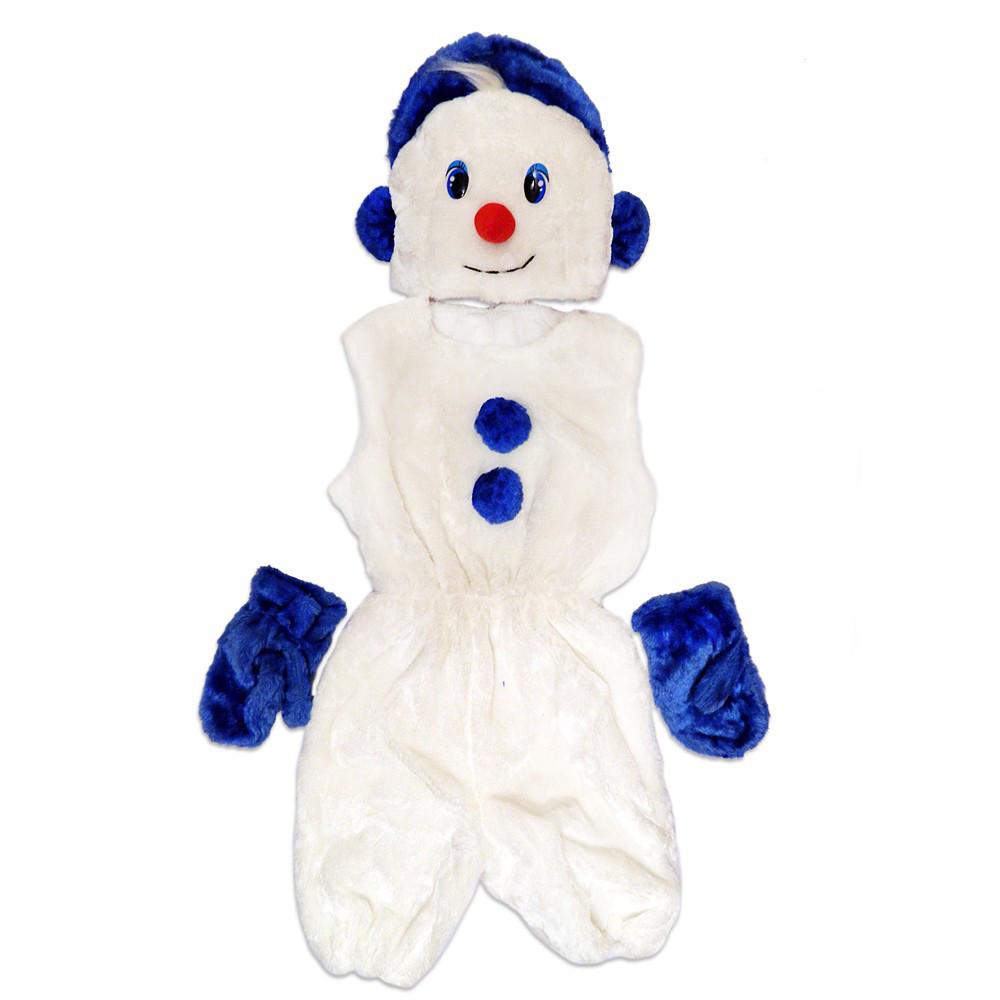 Маскарадный костюм меховой Снеговик размер L