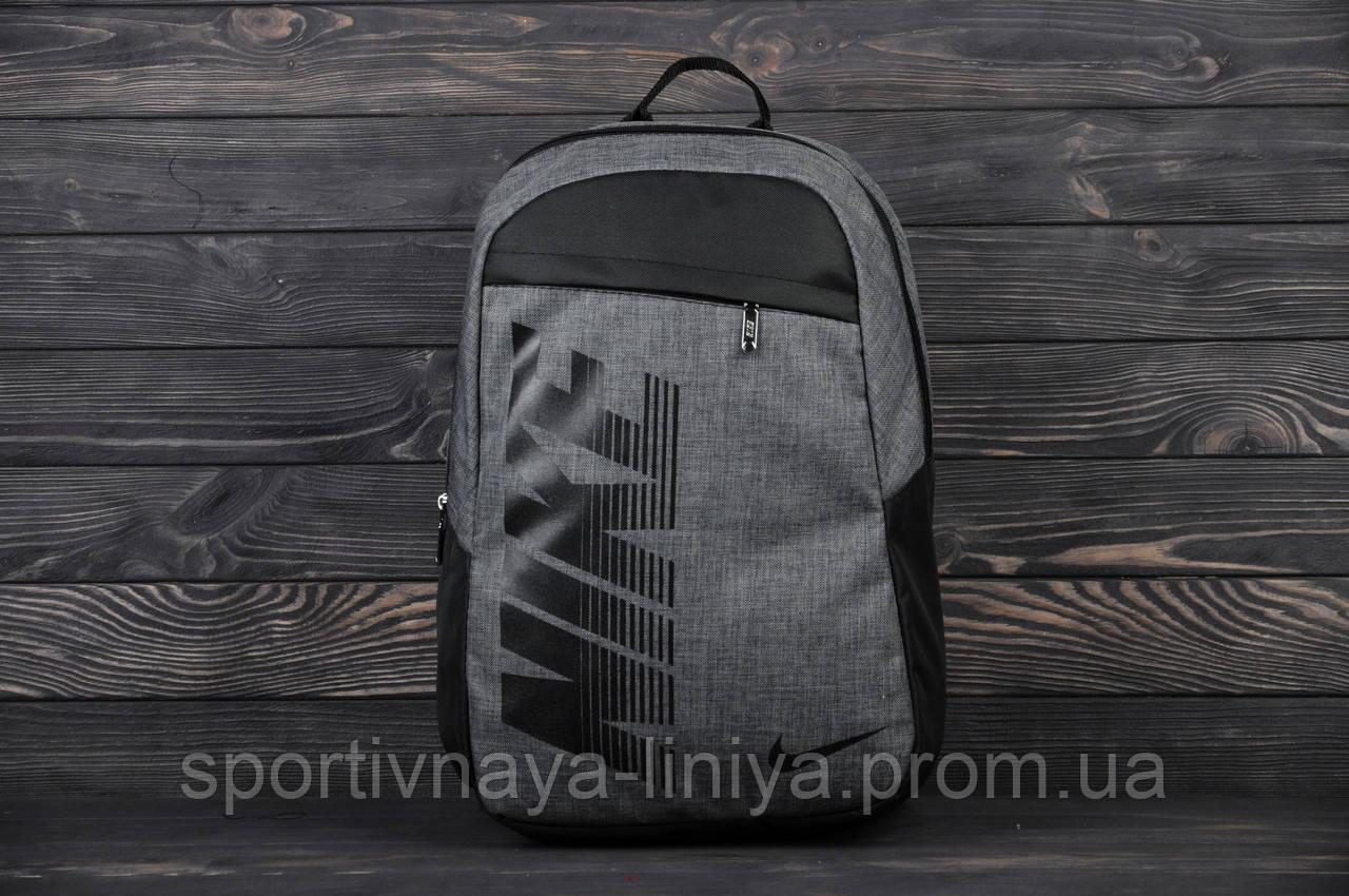 Спортивный серый рюкзак Nike Pioneer (реплика)