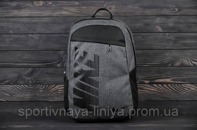 Спортивный серый рюкзак Nike Pioneer (реплика), фото 2