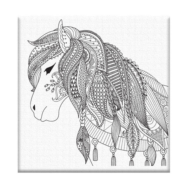 картина раскраска по номерам пони