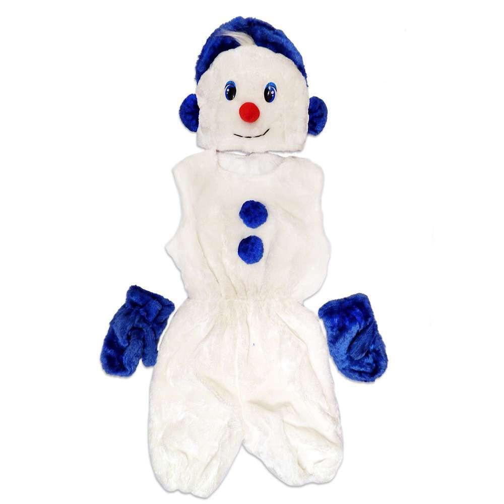 Маскарадный костюм меховой Снеговик размер S